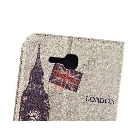 best price Retro Smart Leather Case Stand for Samsung Galaxy Tab 3 7.0 Lite T110 - Big Ben