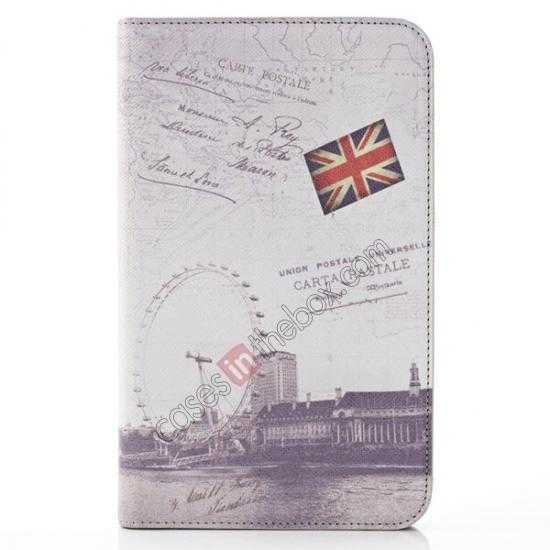 wholesale Retro Smart Leather Case Stand for Samsung Galaxy Tab 3 7.0 Lite T110 - Carte Postale