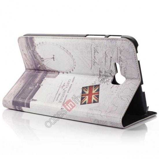 cheap Retro Smart Leather Case Stand for Samsung Galaxy Tab 3 7.0 Lite T110 - Carte Postale