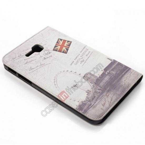 top quality Retro Smart Leather Case Stand for Samsung Galaxy Tab 3 7.0 Lite T110 - Carte Postale