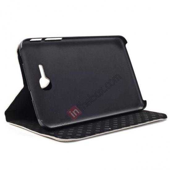 best price Retro Smart Leather Case Stand for Samsung Galaxy Tab 3 7.0 Lite T110 - Carte Postale