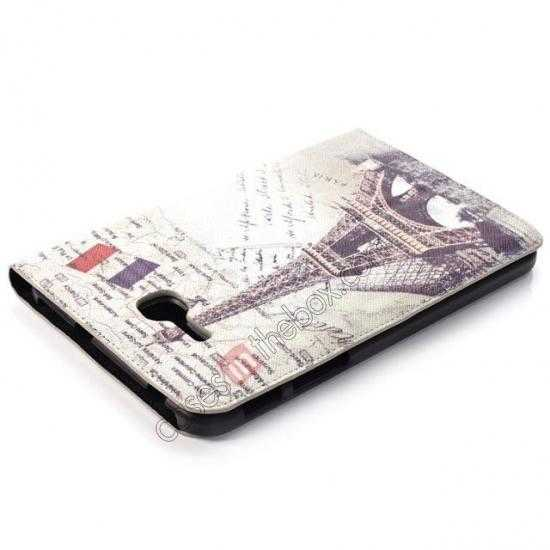 top quality Retro Smart Leather Case Stand for Samsung Galaxy Tab 3 7.0 Lite T110 - Eiffel Tower