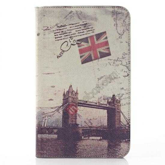 wholesale Retro Smart Leather Case Stand for Samsung Galaxy Tab 3 7.0 Lite T110 - London Brige