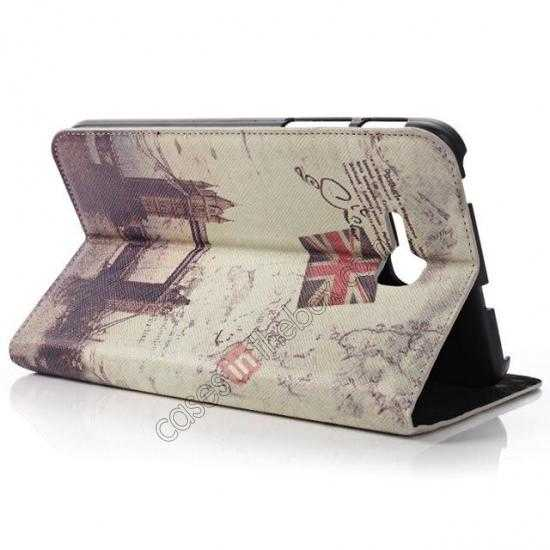 cheap Retro Smart Leather Case Stand for Samsung Galaxy Tab 3 7.0 Lite T110 - London Brige