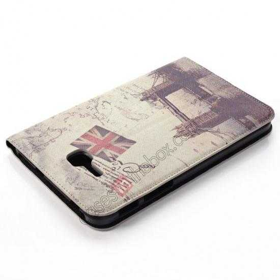 top quality Retro Smart Leather Case Stand for Samsung Galaxy Tab 3 7.0 Lite T110 - London Brige