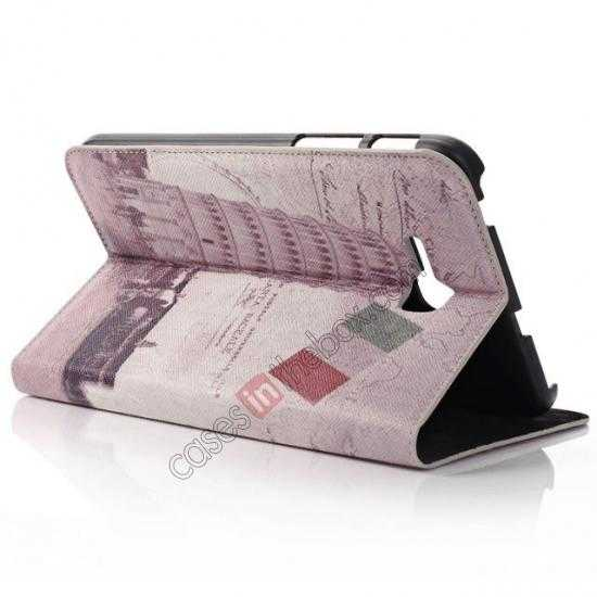 cheap Retro Smart Leather Case Stand for Samsung Galaxy Tab 3 7.0 Lite T110 - Towe of Pisa