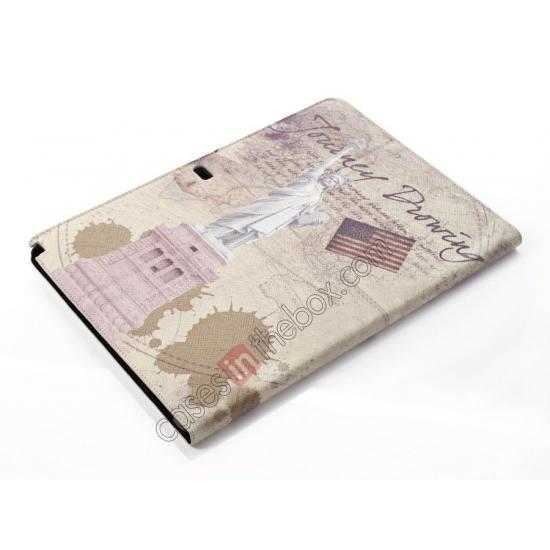 best price Retro Statue of Liberty Pattern Leather Case Cover for Samsung Galaxy Tab Pro 12.2 P900