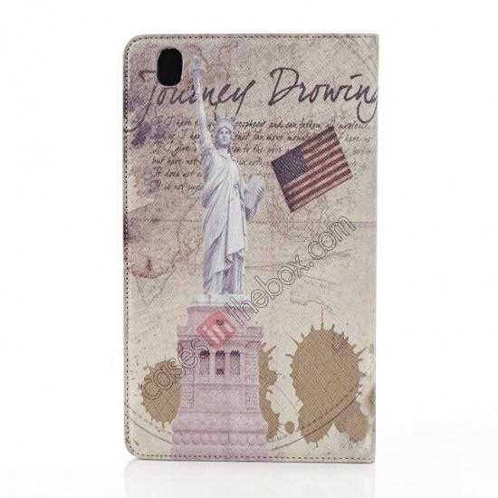 on sale Retro Statue of Liberty Pattern Leather Case Cover for Samsung Galaxy Tab Pro 8.4 T320