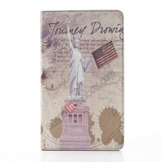 best price Retro Statue of Liberty Pattern Leather Case Cover for Samsung Galaxy Tab Pro 8.4 T320