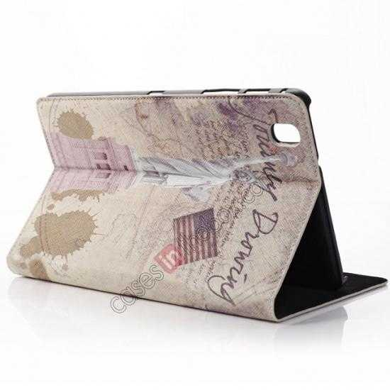 discount Retro Statue of Liberty Pattern Leather Case Cover for Samsung Galaxy Tab Pro 8.4 T320