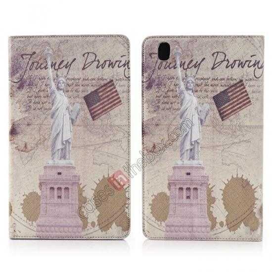 wholesale Retro Statue of Liberty Pattern Leather Case Cover for Samsung Galaxy Tab Pro 8.4 T320