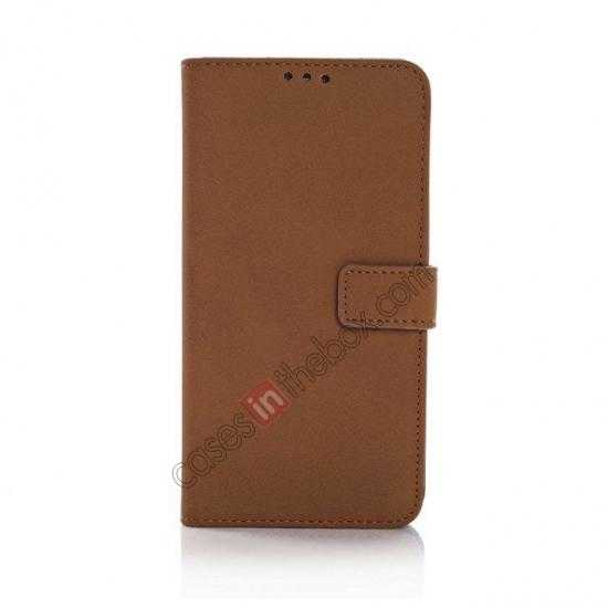 discount Retro Style Stand Leather Flip Case For Samsung Galaxy S5 G900 - Brown