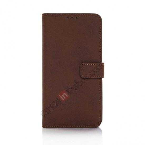 discount Retro Style Stand Leather Flip Case For Samsung Galaxy S5 G900 - Coffee