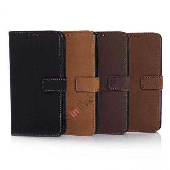 low price Retro Style Stand Leather Flip Case For Samsung Galaxy S5 G900 - Coffee