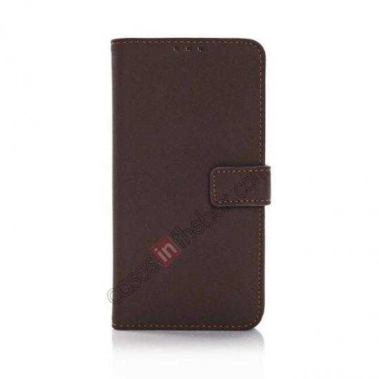 discount Retro Style Stand Leather Flip Case For Samsung Galaxy S5 G900 - Dark Grey