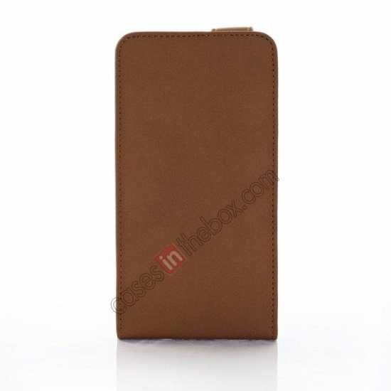 discount Retro Style Vertical Flip Leather Case for Samsung Galaxy S5 G900 - Brown