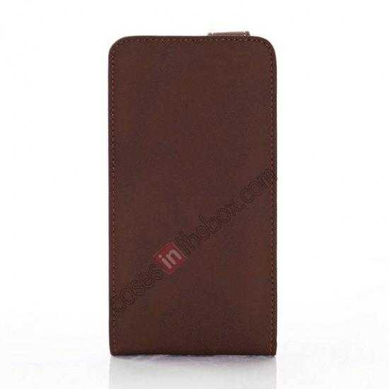 discount Retro Style Vertical Flip Leather Case for Samsung Galaxy S5 G900 - Coffee
