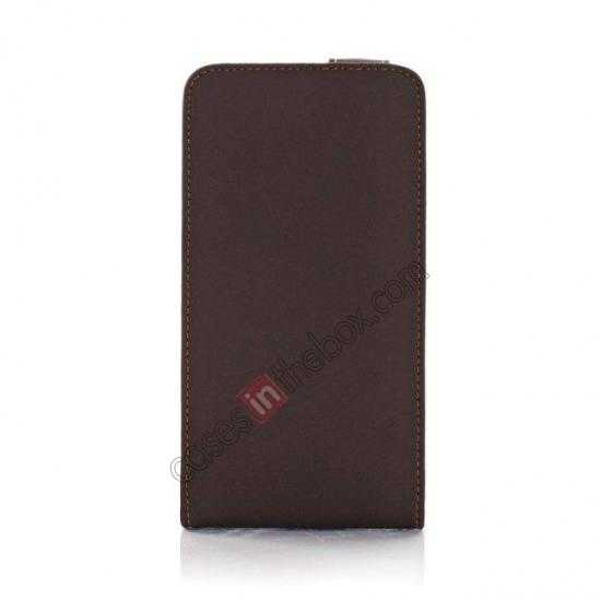 wholesale Retro Style Vertical Flip Leather Case for Samsung Galaxy S5 G900 - Dark Grey