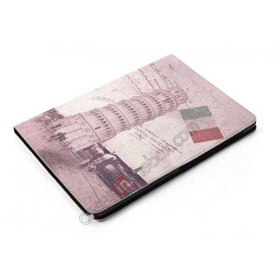 best price Retro The Leaning Tower of Pisa Pattern Leather Case Cover for Samsung Galaxy Tab Pro 12.2 P900
