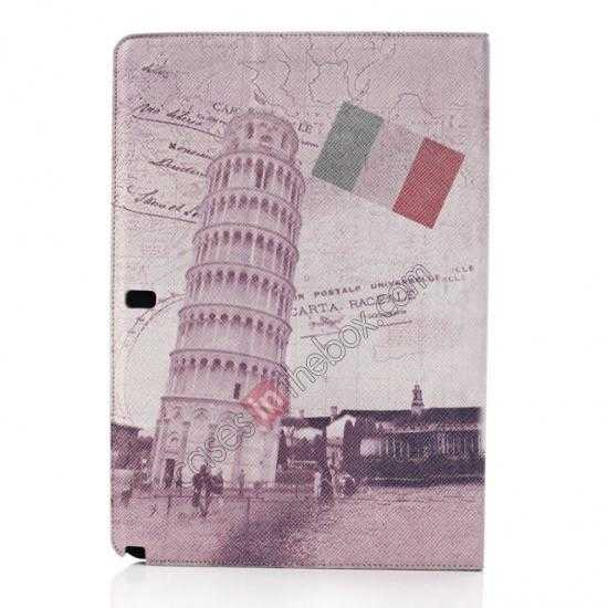discount Retro The Leaning Tower of Pisa Pattern Leather Case Cover for Samsung Galaxy Tab Pro 12.2 P900