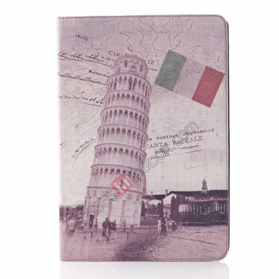 wholesale Retro The Leaning Tower of Pisa Pattern Leather Case Cover for Samsung Galaxy Tab Pro 12.2 P900