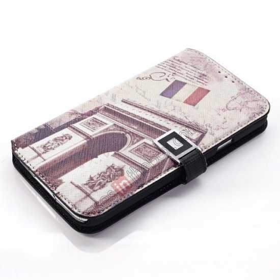 cheap Retro Triumphal Arch Pattern Folio Wallet Leather Case For Samsung Galaxy S5 G900