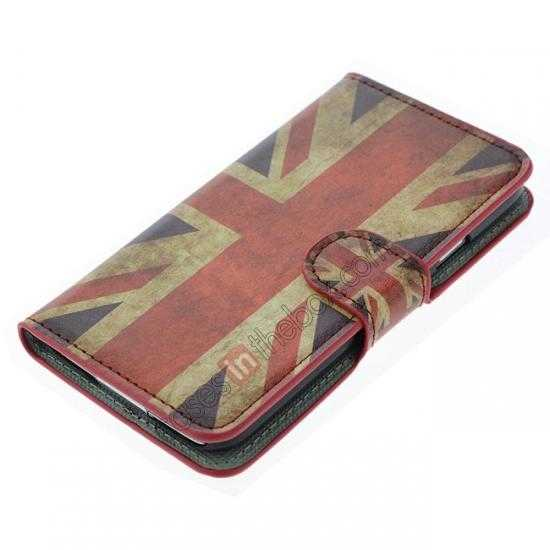 best price Retro UK Flag Pattern Wallet Style Stand Leather Case For Samsung Galaxy S5