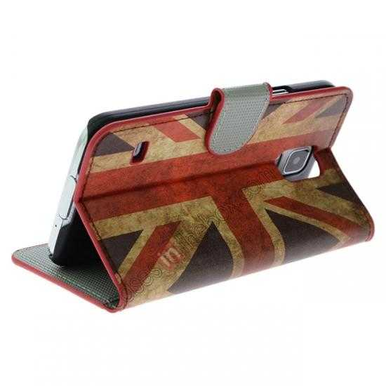 cheap Retro UK Flag Pattern Wallet Style Stand Leather Case For Samsung Galaxy S5