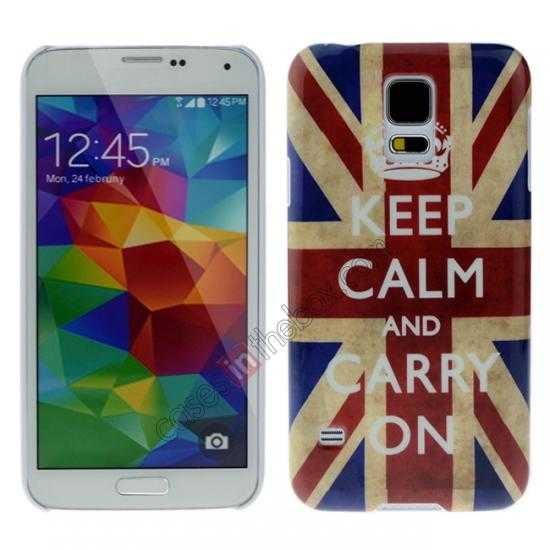 wholesale Retro UK Flag Rhinestone Bling Hard Case Cover for Samsung Galaxy S5
