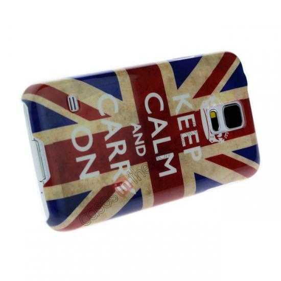 discount Retro UK Flag Rhinestone Bling Hard Case Cover for Samsung Galaxy S5