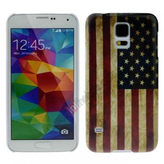 wholesale Retro USA Flag Hard Back Case Cover for Samsung Galaxy S5