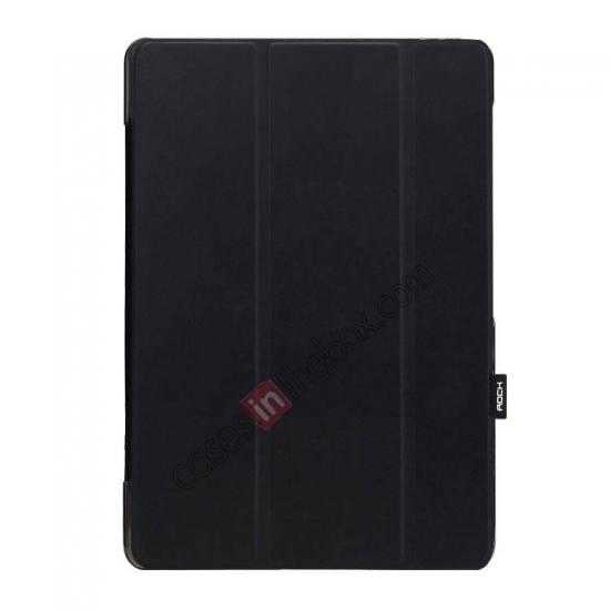 wholesale Rock Elegant Series Leather Stand Case for Samsung Galaxy Tab Pro 12.2 P900 With Wake/Sleep - Black