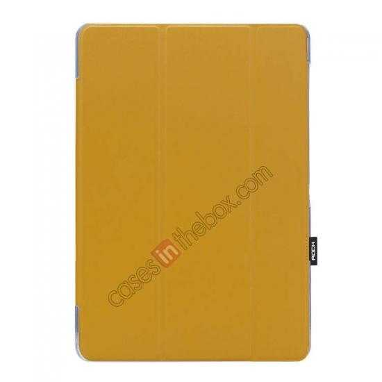 wholesale Rock Elegant Series Leather Stand Case for Samsung Galaxy Tab Pro 12.2 P900 With Wake/Sleep - Ginger