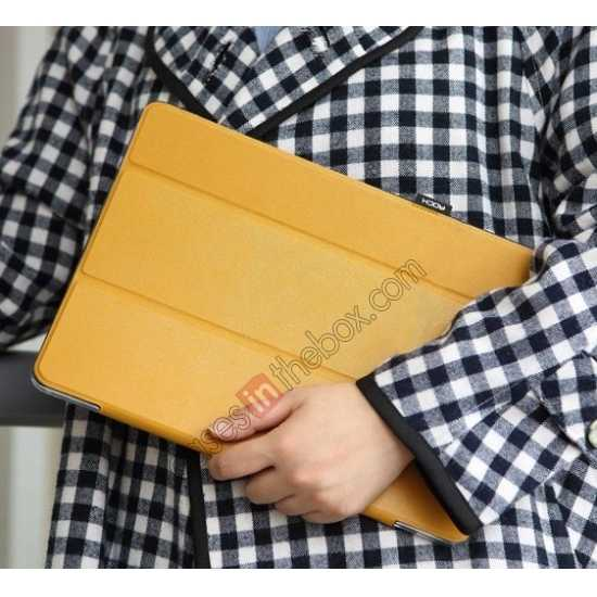 discount Rock Elegant Series Leather Stand Case for Samsung Galaxy Tab Pro 12.2 P900 With Wake/Sleep - Ginger
