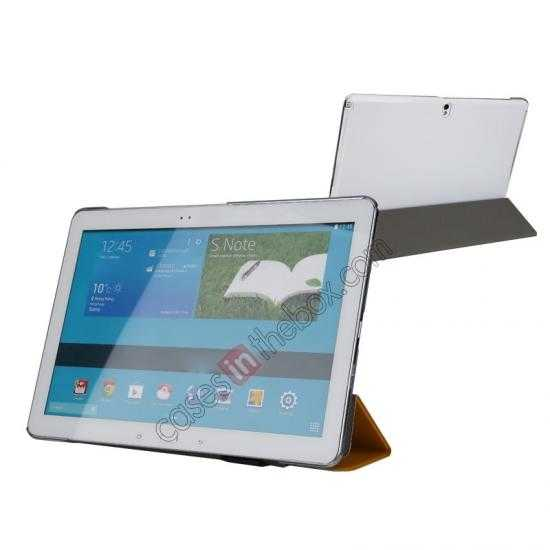 high quanlity Rock Elegant Series Leather Stand Case for Samsung Galaxy Tab Pro 12.2 P900 With Wake/Sleep - Ginger