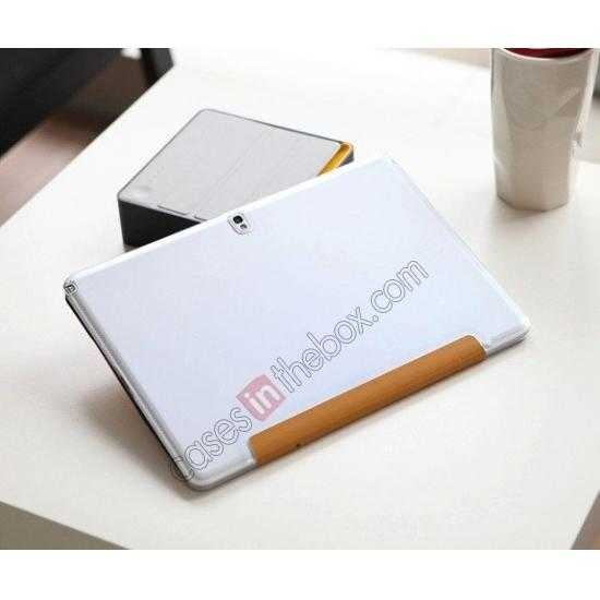 top quality Rock Elegant Series Leather Stand Case for Samsung Galaxy Tab Pro 12.2 P900 With Wake/Sleep - White