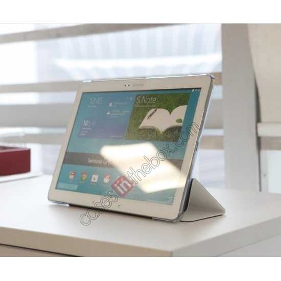 on sale Rock Elegant Series Leather Stand Case for Samsung Galaxy Tab Pro 12.2 P900 With Wake/Sleep - White