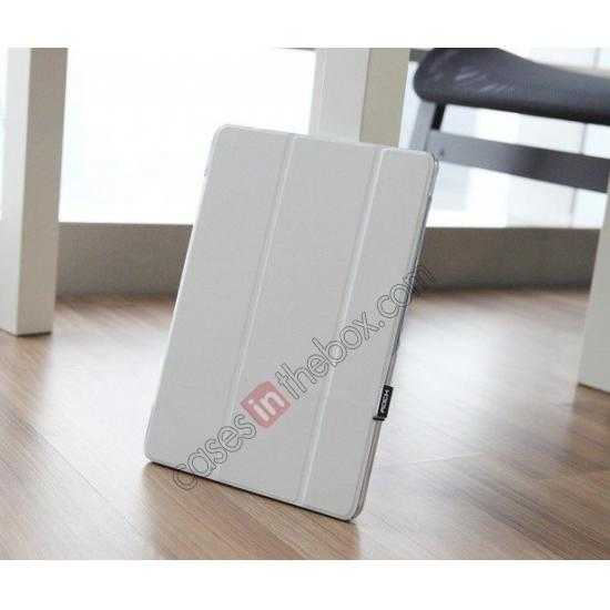 low price Rock Elegant Series Leather Stand Case for Samsung Galaxy Tab Pro 12.2 P900 With Wake/Sleep - White