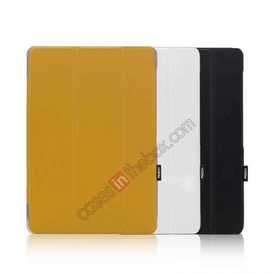 China leading wholesale Rock Elegant Series Leather Stand Case for Samsung Galaxy Tab Pro 12.2 P900 With Wake/Sleep - White
