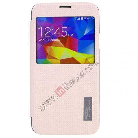 discount Rock Elegant Series Side Flip Leather Case Cover For Samsung Galaxy S5 - Pink