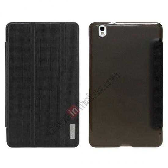 wholesale Rock Elegant Series Tri-Fold Leather Stand Case for Samsung Galaxy Tab Pro 8.4 T320 - Black