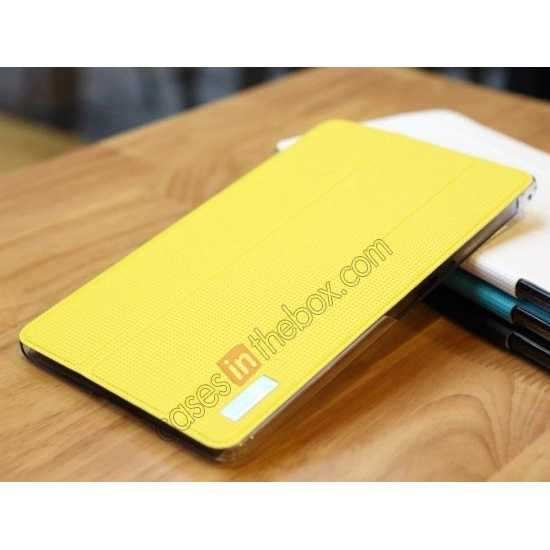on sale Rock Elegant Series Tri-Fold Leather Stand Case for Samsung Galaxy Tab Pro 8.4 T320 - Lemon