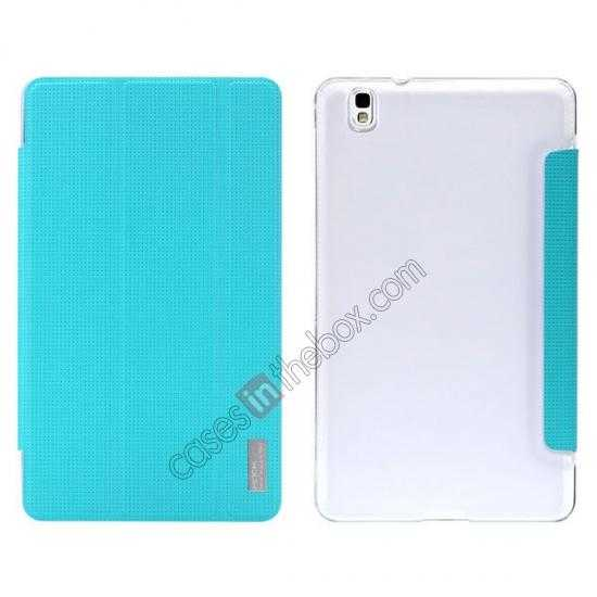 wholesale Rock Elegant Series Tri-Fold Leather Stand Case for Samsung Galaxy Tab Pro 8.4 T320 - Sky Blue