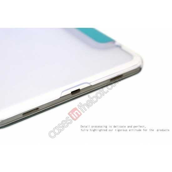 best price Rock Elegant Series Tri-Fold Leather Stand Case for Samsung Galaxy Tab Pro 8.4 T320 - Sky Blue