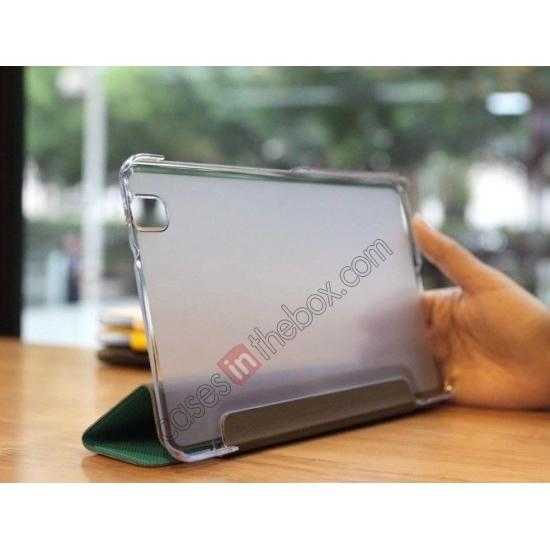 low price Rock Elegant Series Tri-Fold Leather Stand Case for Samsung Galaxy Tab Pro 8.4 T320 - Sky Blue