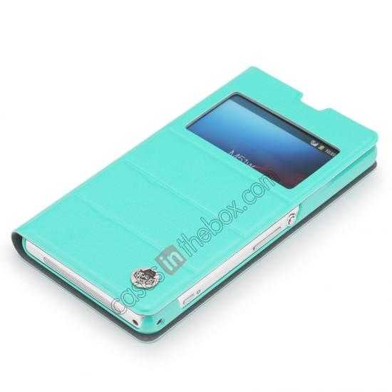 wholesale ROCK Excel Series Leather Flip Case for Sony Z1 Mini/Z1 Compact/M51w/D5503 - Blue