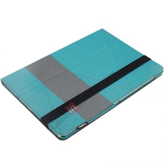 discount Rock Fashion New Leather Stand Case for Samsung Galaxy Tab Pro 12.2 P900 - Blue