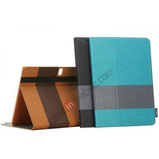 low price Rock Fashion New Leather Stand Case for Samsung Galaxy Tab Pro 12.2 P900 - Blue