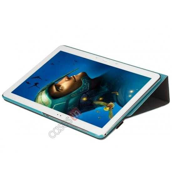 best price Rock Fashion New Leather Stand Case for Samsung Galaxy Tab Pro 12.2 P900 - Blue