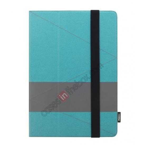 cheap Rock Fashion New Leather Stand Case for Samsung Galaxy Tab Pro 12.2 P900 - Blue